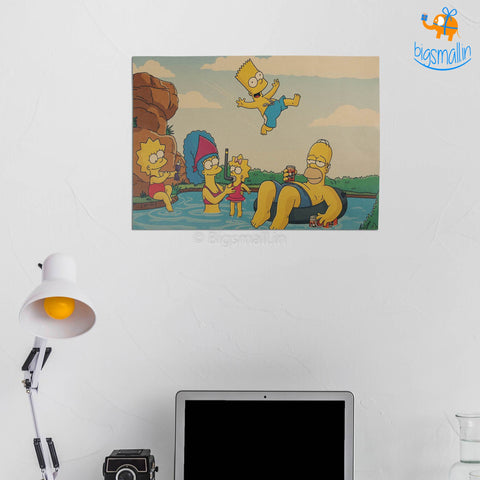 Simpsons Kraft Paper Poster - bigsmall.in