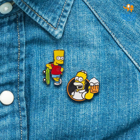 The Simpsons Lapel Pin
