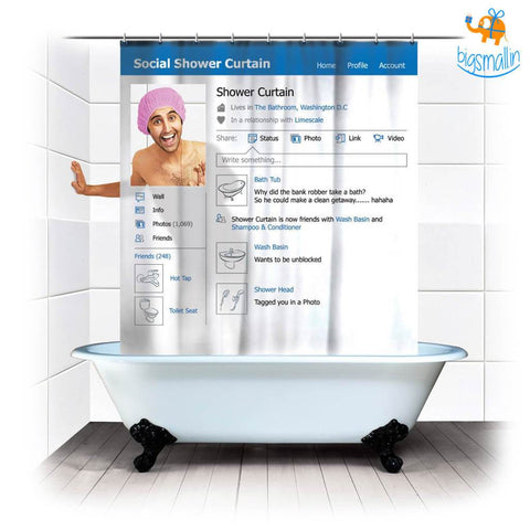 Social Media Shower Curtain - bigsmall.in