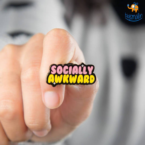 Socially Awkward Metallic Lapel Pin - bigsmall.in