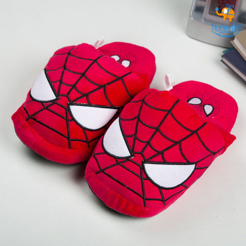 Spiderman Plush Slippers (UK 3 - 7) - bigsmall.in