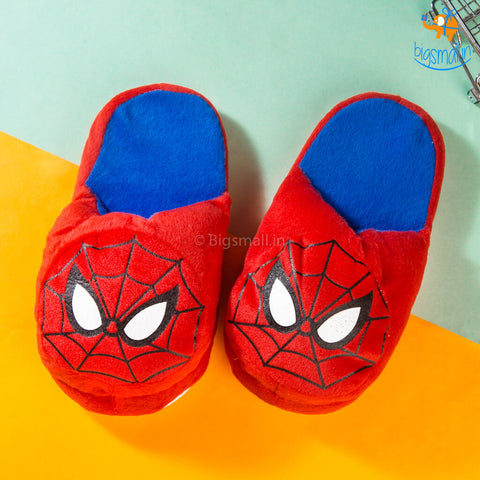 Spidey Chibi Plush Slippers (Size: Up to UK 3 - 6)