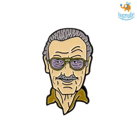 Stan Lee Lapel Pin - bigsmall.in