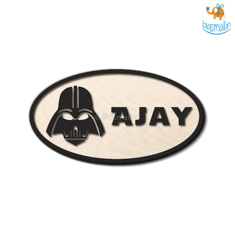 Personalized Darth Vader Themed Nameplate | COD not available