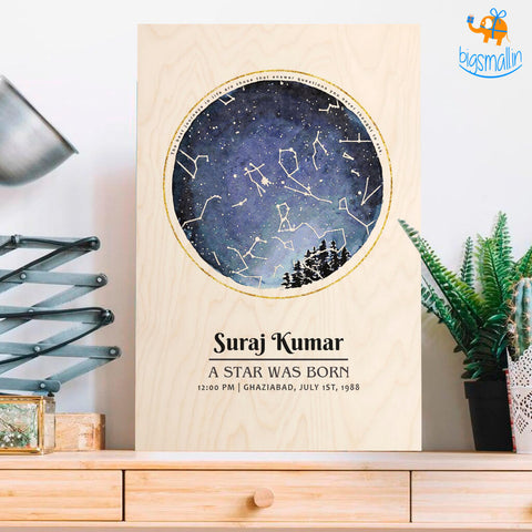 Born Under These Stars - Personalized Wooden Frame | COD not available