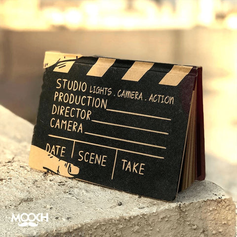Movie Clapboard A6 Notebook With Elastic