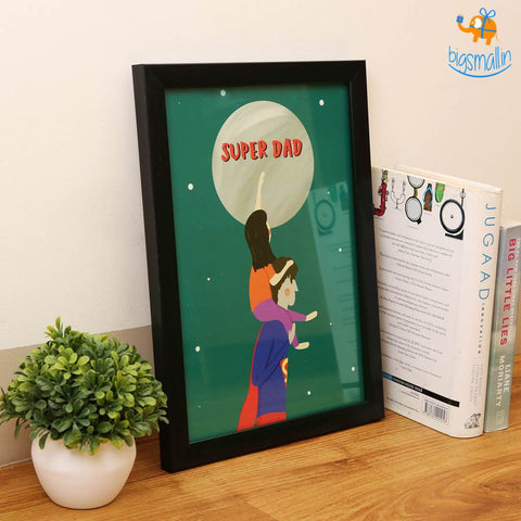 Super Dad Poster With Frame