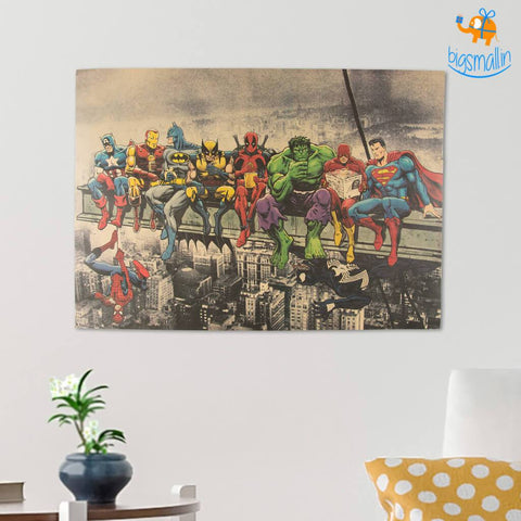 Superheroes Chilling Poster