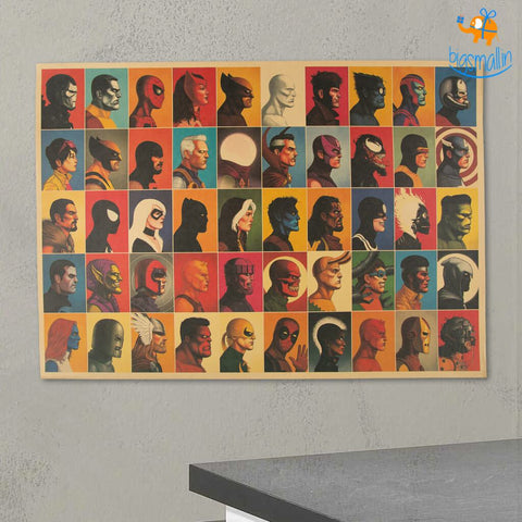 Superhero Headshot Poster