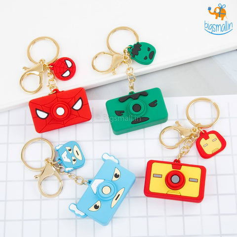 Superhero Camera Keychains