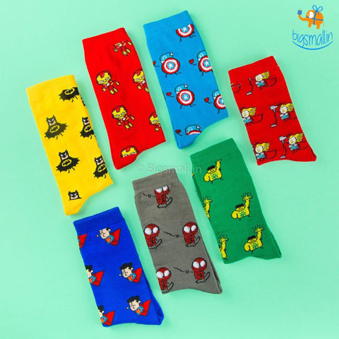 Superhero Crew Socks - bigsmall.in
