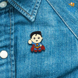 Superman Metallic Lapel Pin - bigsmall.in