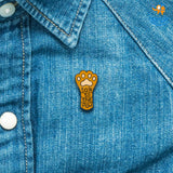 Talk To The Paw Lapel Pin