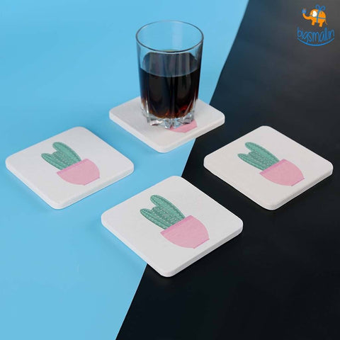 Diatomite Absorbent Drink Coasters - Set of 4 - bigsmall.in