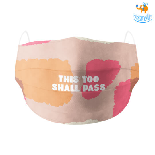 This Too Shall Pass Cotton Mask With Filter