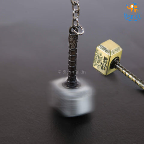 Spinning Thor Hammer Keychain - bigsmall.in