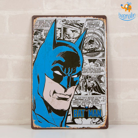 Batman Tin Hanging Board - bigsmall.in
