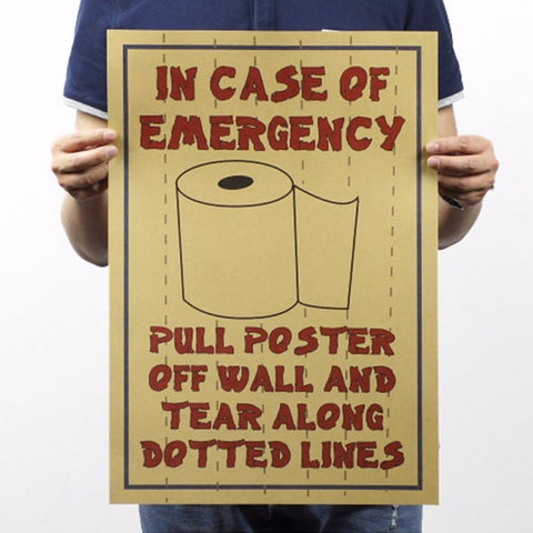 Toilet Paper Poster - bigsmall.in