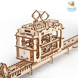 Ugears Tram on Rails Mechanical Model - bigsmall.in