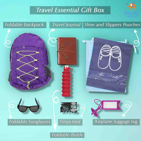 Travel Essentials Box - 8 Pc - bigsmall.in