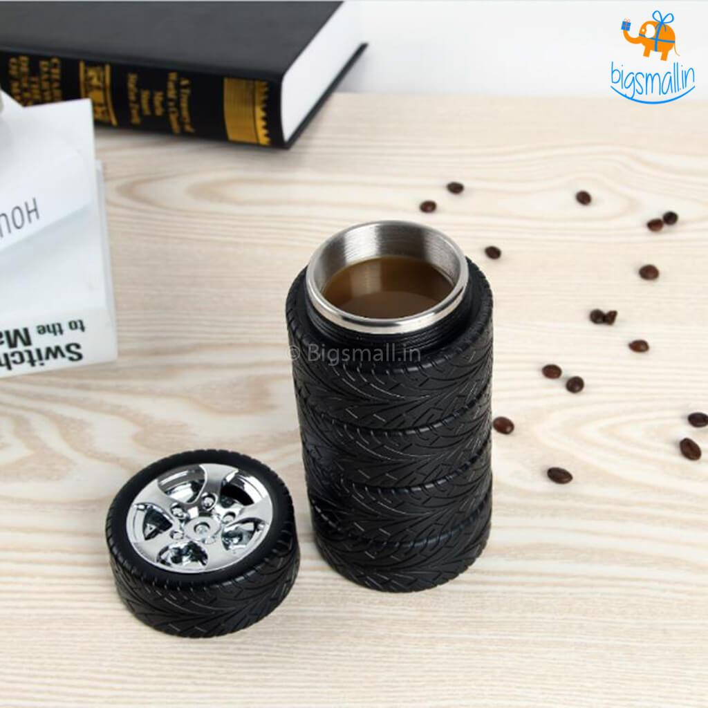 3D Tyre Hot & Cold Flask - bigsmall.in