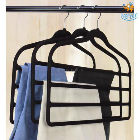 Multi-layer Cloth Hanger (Black) - bigsmall.in