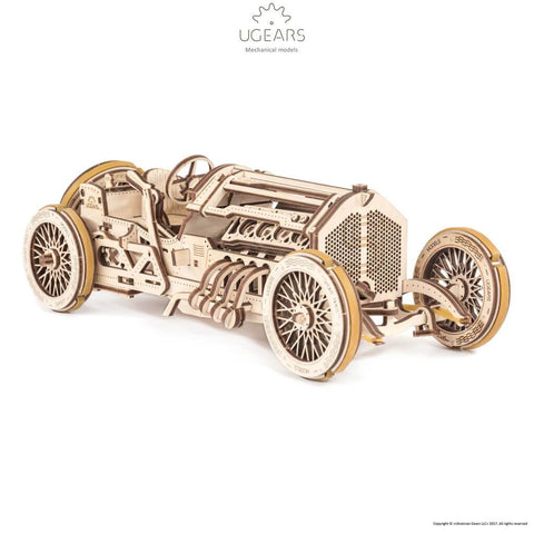 Ugears U-9 Grand Prix Car Mechanical Puzzle