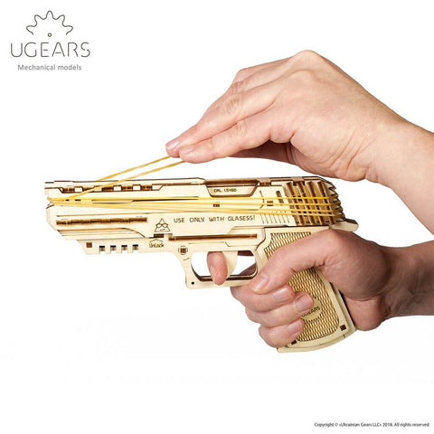 Ugears  Handgun Mechanical Puzzle - bigsmall.in