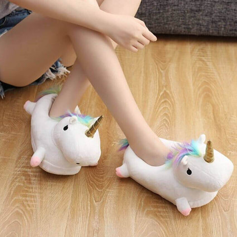 Unicorn Plush Slippers - bigsmall.in
