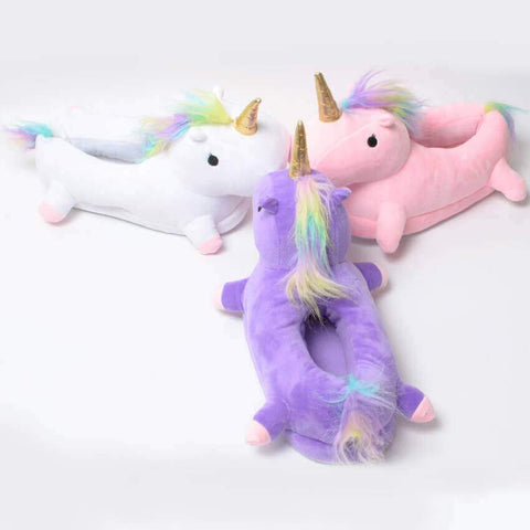9f26e5446dd9 Buy Unicorn Plush Slippers Online at Bigsmall.in