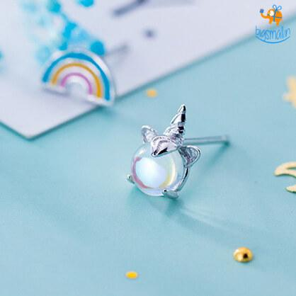 Magical Unicorn Rainbow Ear Studs - bigsmall.in