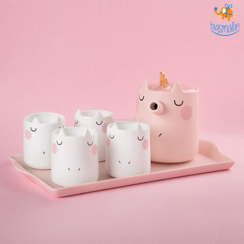 Unicorn Teapot Set - 6 Pc - bigsmall.in