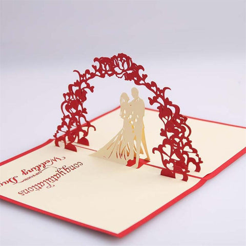 Wedding Pop-up Card - bigsmall.in