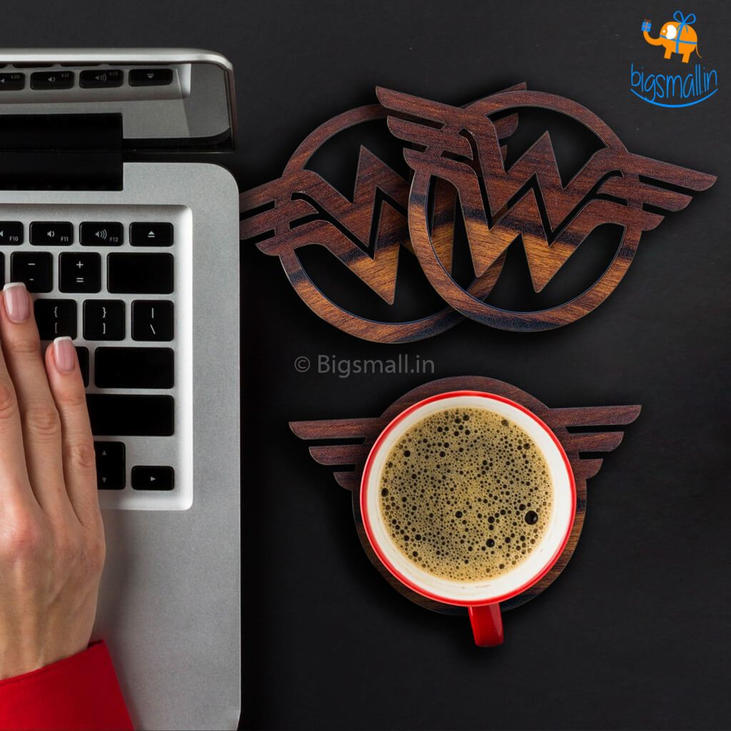 Wonder Woman Wooden Coasters - bigsmall.in