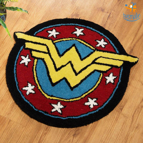 Handcrafted Wonder Woman Rug - bigsmall.in