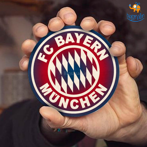 Bayern Munich FC Wooden Coasters - Set of 4