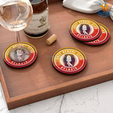 East Bengal Club Wooden Coasters - Set of 4