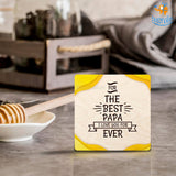 Personalized The Best Papa Wooden Coasters | COD Not available