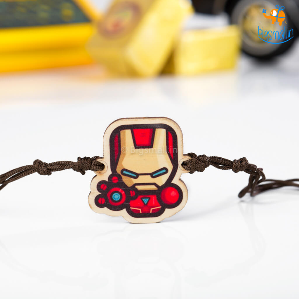 Iron Man Wooden Rakhi
