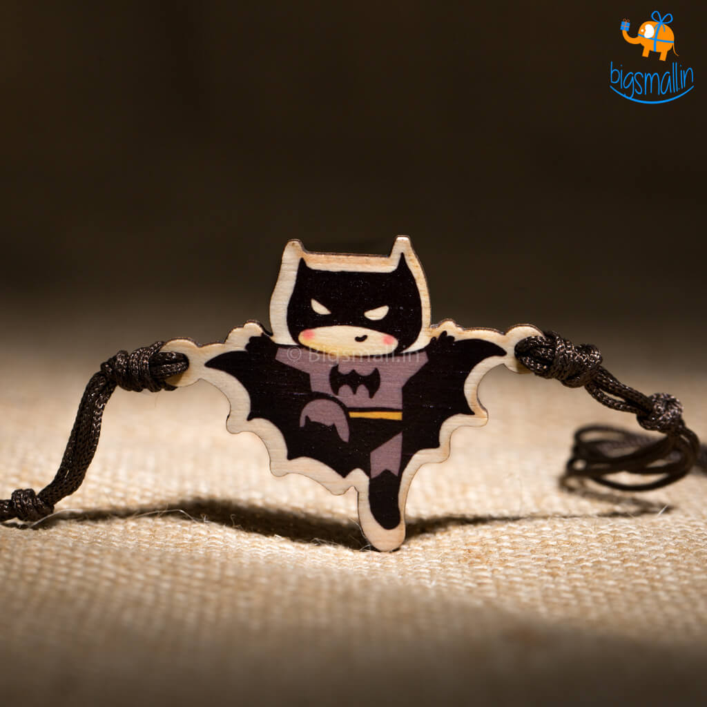 Batman Wooden Rakhi