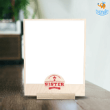 Best Sister Personalized Wooden Print Frame | COD not available - bigsmall.in