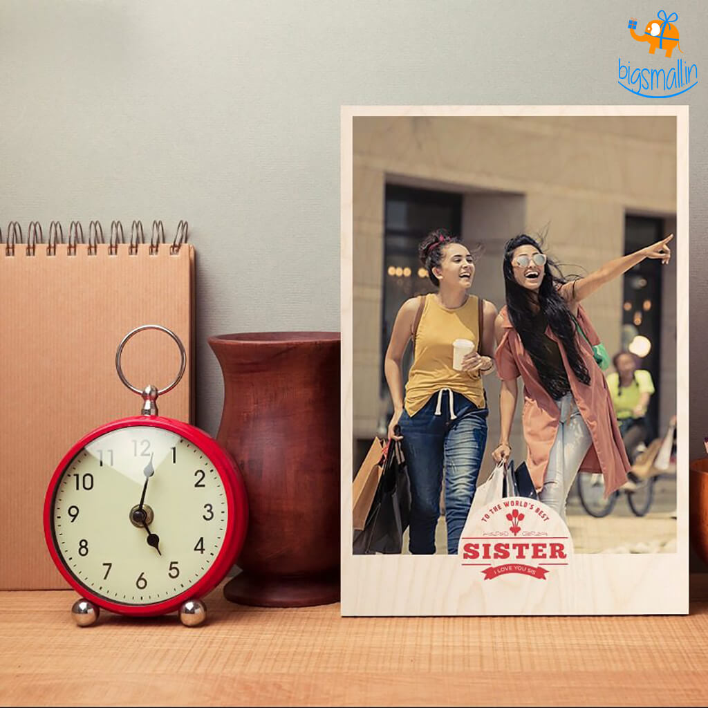 Best Sister Personalized Wooden Print Frame | COD not available