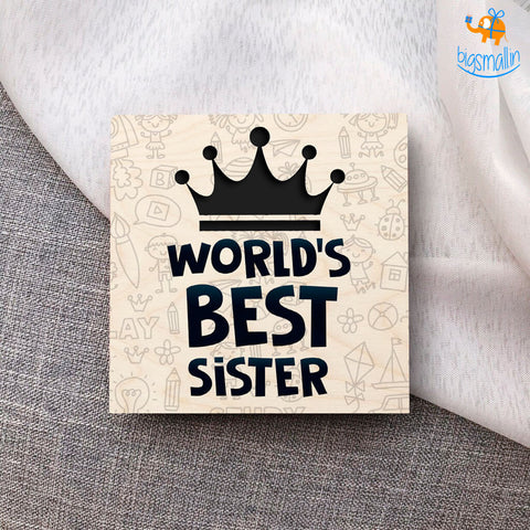 Best Sister Wooden Coasters