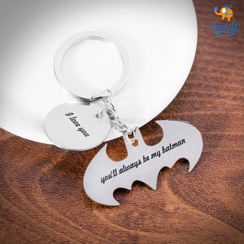 Be My Batman Metallic Keychain - bigsmall.in