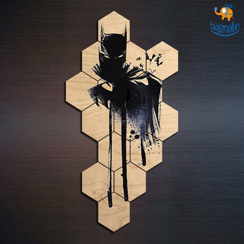 Wooden Batman Puzzle Fridge Magnets - Set Of 15