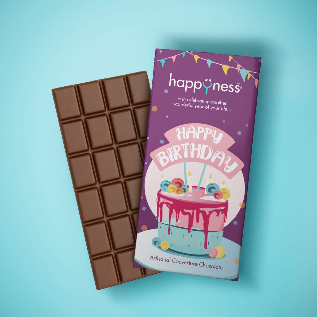 Happy Birthday Handmade Chocolate Bar