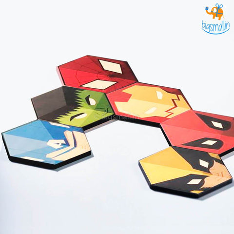 Wooden Superhero Fridge Magnets - Set Of 6