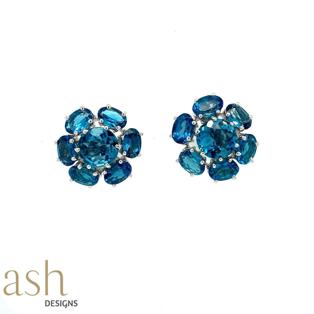 Blue Grotto Semi-Precious Stud Earrings