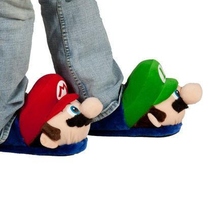 Super Mario Brothers Plush Slippers - bigsmall.in