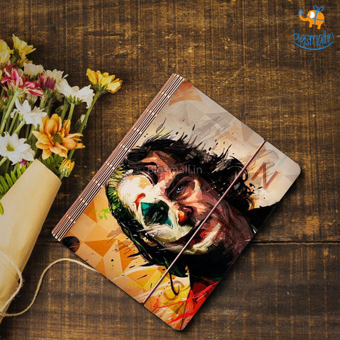Joker Wooden Binder With Elastic Strap - bigsmall.in
